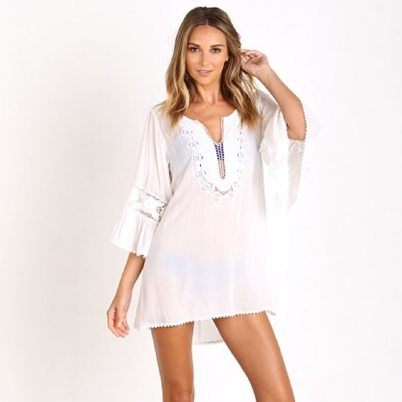 37ab23a7f7ef l space Other - L-Space Breakaway Cover-Up Tunic in White