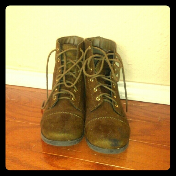 Shoes | Olive Green Combat Boots | Poshmark