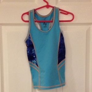 Zella Girl Other - Zella girl blue orange racer back tank. EUC