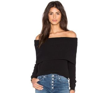 Lovers + Friends Sweaters - Lovers + Friends Off The Shoulder Sweater