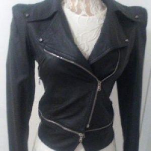 Black leather bikers Dablju By jiniy jacket