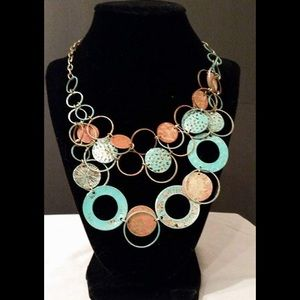 Patina Circle chain necklace