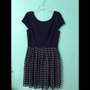 Speechless Dresses & Skirts - Dark blue & patterned dress