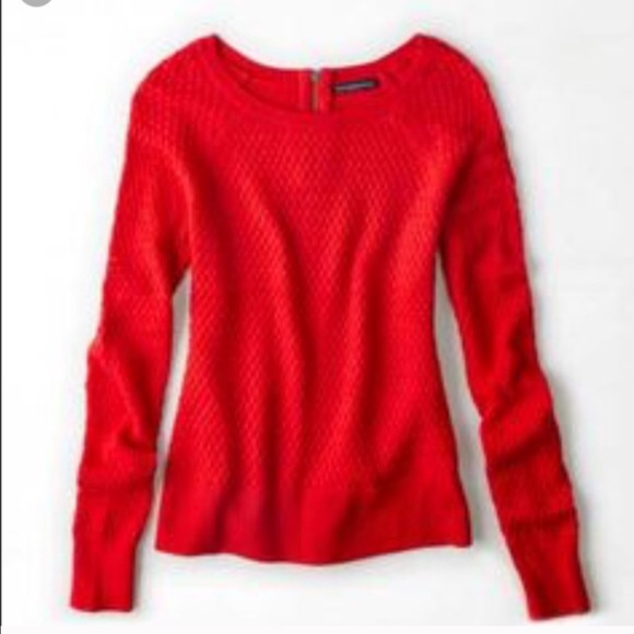 78% off American Eagle Outfitters Sweaters - AEO zip back crew ...