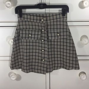 Black and cream vintage inspired skirt.
