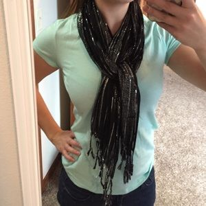 Black and silver sparkly scarf