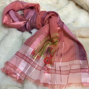 Pierre Balmain Accessories - Balmain Vintage silk scarf in pink
