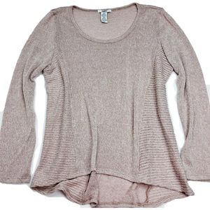 Bar III Sweaters - Bar III Pink Long Sleeve Ribbed Sweater