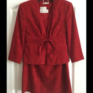 Alberto Makali Other - Alberto Makali faux suede 3 piece red suit