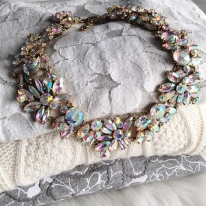 J. Crew Jewelry - J.Crew iridescent crystal cluster necklace