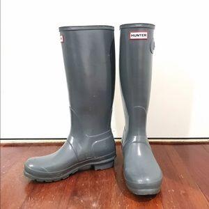 Hunter original gloss tall rain boots
