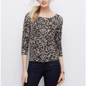 Ann Taylor Sweaters - Ann Taylor Animal Print Sweater. Size L.
