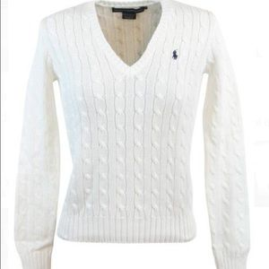 Off- White Ralph Lauren Cable Knit Sweater