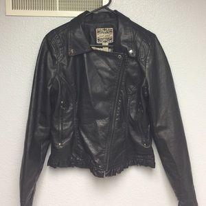 Adorable faux leather coat