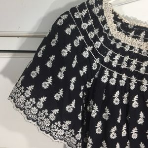 Max Studio cotton elastic neck dress