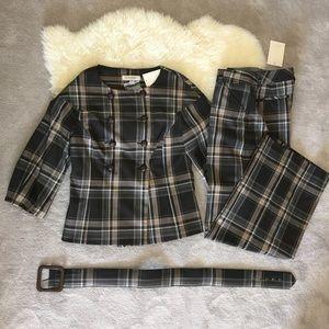 Isaac Mizrahi Jackets & Blazers - Plaid matching suit set