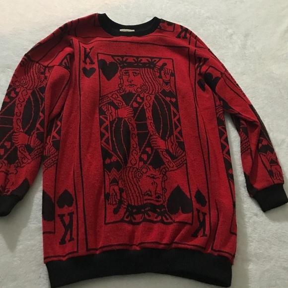 Sweaters King Of Hearts Vintage Sweater Poshmark
