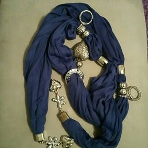 Other - Cool silver jewelry scarf