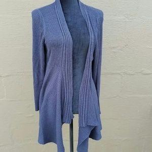Avenue blue ribbed cascade sweater 14-16