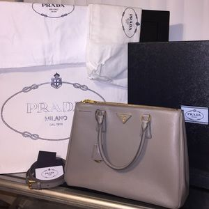 Prada Handbags - Authentic Prada Saffiano Lux Tote in Argilla