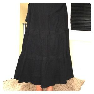 Black Maxi Skirt with lace