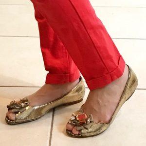 kate spade Shoes - Peep toe flats