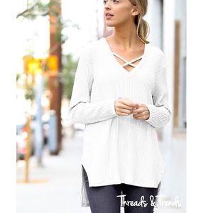 Threads & Trends Tops - Crisp White Tunic