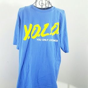 Junk Food Other - Y.O.L.O. DARE T SHIRT LARGE VINTAGE STYLE