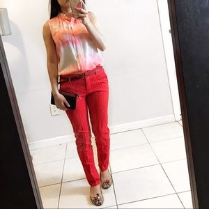 Red trouser pants
