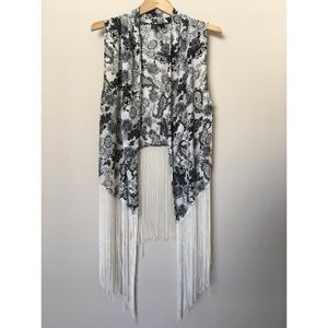 WINDSOR Jackets & Blazers - Paisley Fringe Vest