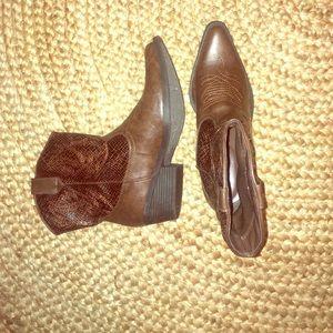 Brown Snakeskin Rampage Cowboy Booties