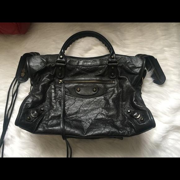 decce320c818 Balenciaga Handbags - Balenciaga city medium classic studs lambskin bag