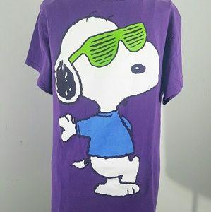 Peanuts Tops - SNOOPY STUNNA SHADES T SHIRT PURPLE hip hop