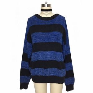 Vintage Sweaters - COTTON VINTAGE BOLD STRIPE COMFY SWEATER!!