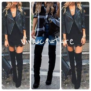 Shoes - New Fabulous Chic Over the knee Lace up Boots