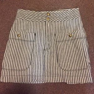 Urban Outfitters Navy Stripe Skirt!
