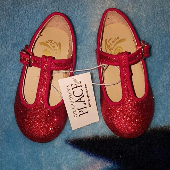 ❤Toddler girl Red glitter flats shoes❤ 358a7de9d