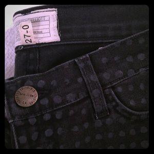 Current/Elliott polka dot skinny stiletto jeans