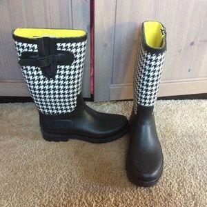 Merona plaid Welly rain boots