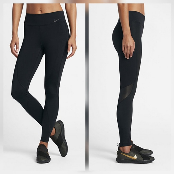 62% off Nike Pants - Nike Black Power Legendary Legging Tight Mesh ...