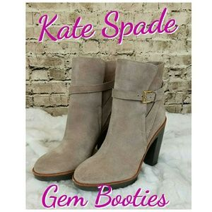 kate spade Shoes - ♠New♠ Kate Spade Gem Booties in Truffle