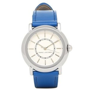 Marc Jacobs Accessories - Marc Jacobs 'Courtney' Watch Blue Leather Strap