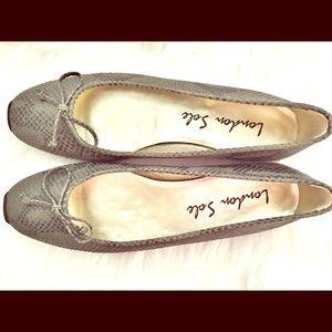 London Sole Shoes - (NEW) London Sole Ballet Sneaker Olive Green Snake
