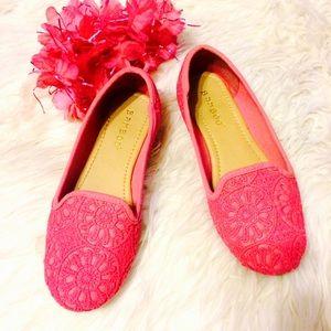 Bamboo Pink Crocheted Flats