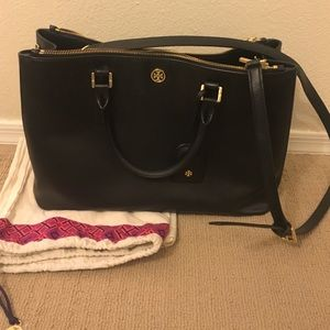 Large Tory burch Robinson double zip tote