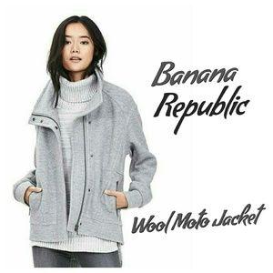 NWT Banana Republic Boiled Wool Moto Jacket