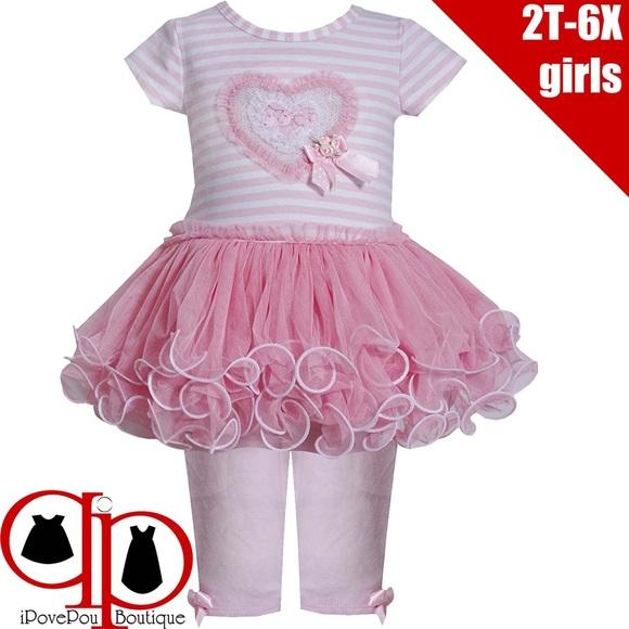 Bonnie Jean Girls Christmas Holiday Snowman Dress and Legging Set 12M-6X