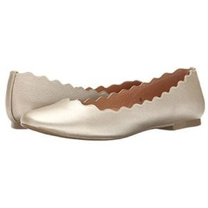 Athena Alexander Shoes - Athena Alexander Toffy Gold Scalloped Flats