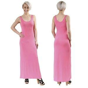 Zenana Outfitters Dresses & Skirts - Bubblegum Pink Maxi Tank Dress NWOT