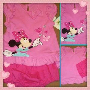 Disney Other - Disney Baby Minnie Mouse Set